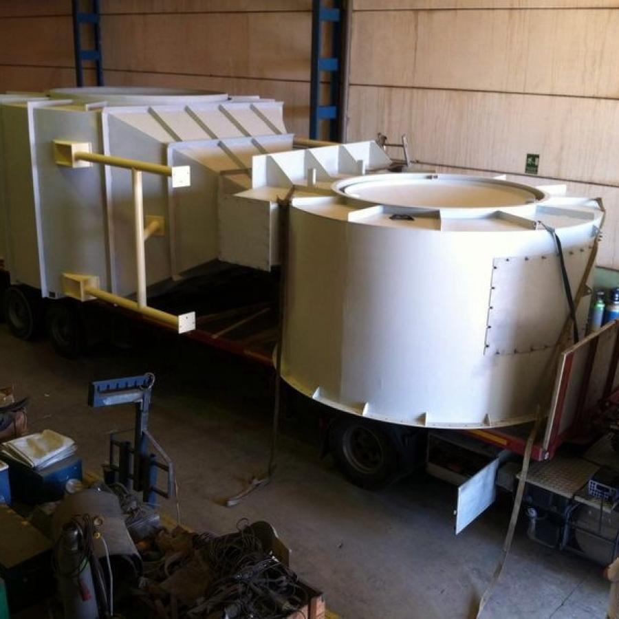 Cámaras de mezcla sobre camion